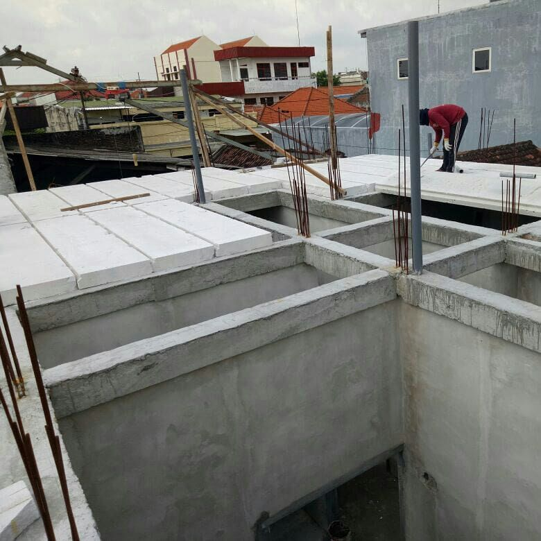 pasang panel lantai dengan balok beton di semarang